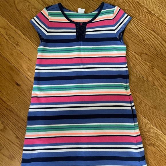 Gymboree striped lace up dress